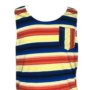 Carbon Shirts - Carbon Multi-Striped Summer Tank Top A020477